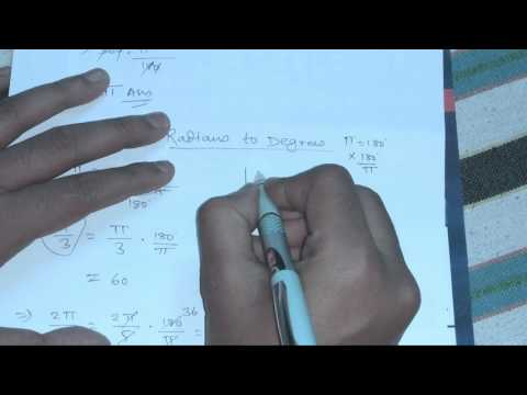 How to convert Radians to Degrees in 10sec without calculator[Hindi]