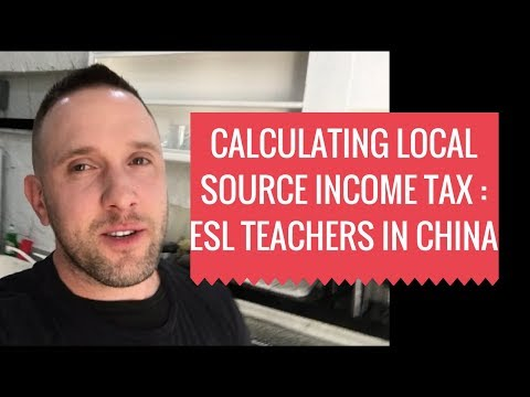 Income Taxes for English Teachers In China? Use This Calculator For ESL Instructors