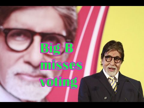 Amitabh Bachchan did not vote at the Maharashtra Assembly elections - BT