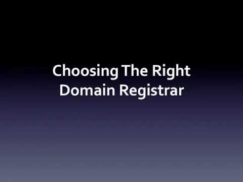 Choosing The Right Domain Registrar - Web Hosting