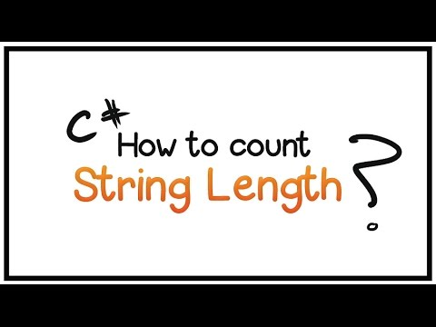 C# Tutorial -Part 7- Count the length of a string