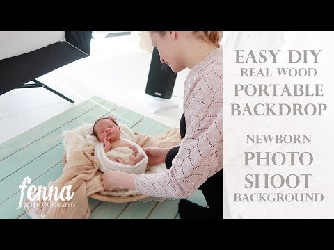 Easy DIY Portable Real Wooden Backdrop (Newborn Photoshoot background)