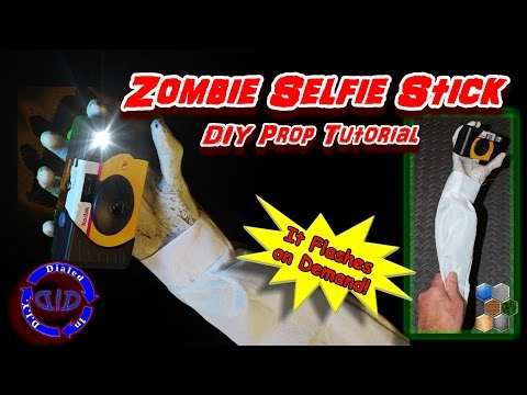 Zombie Selfie Stick - Make a cool prop - Complete Instructions