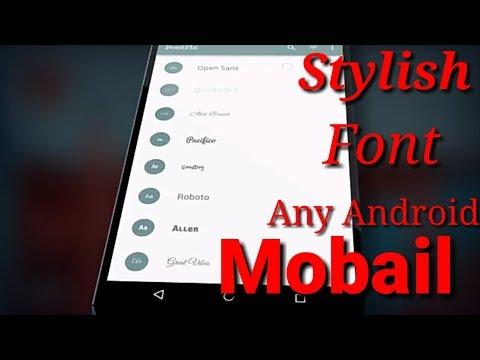 Fonts | Stylish Font | Ab Kisi Bhi Android Mobail Pe Stylish Font Laga Sakte Hai