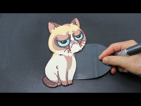Grumpy Cat Pancake - The World's Most Oddly Satisfying Cat Video