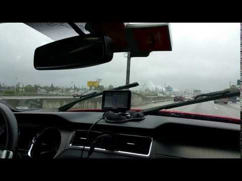 Raining on the Highway in Los Angeles