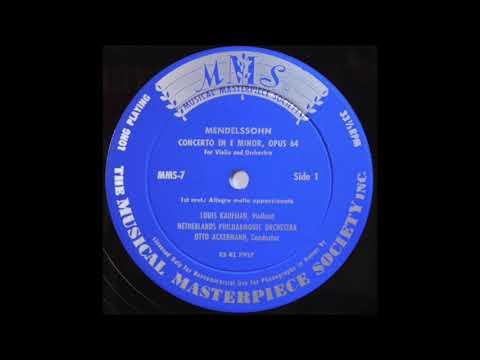 Louis Kaufman 1952 Mendelsohn violin concerto Musical Masterpiece Society