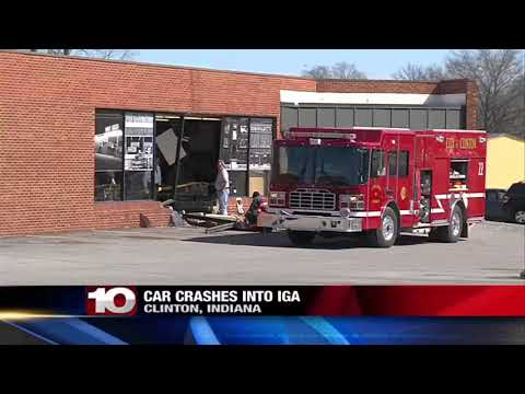 Car crashes into Clinton IGA