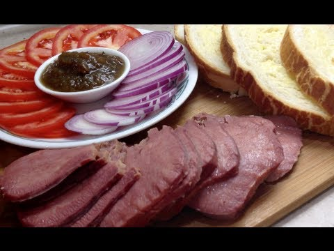 Warm Tongue Sandwich Video Recipe cheekyricho