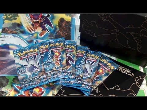 The Best Pokemon Black and White Plasma Storm Elite Trainer Box Opening Ever!