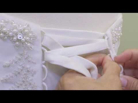 How to Lace a Corset Back Wedding Dress
