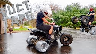 DRIFT QUAD DUCT TAPE TIRES!!! This Was Crazy..