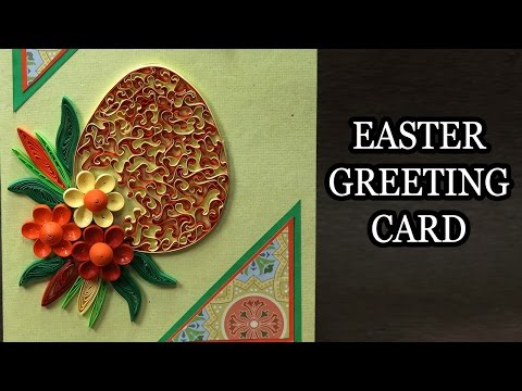 Handmade Easter Card - DIY Quilling Card Making Step by Step