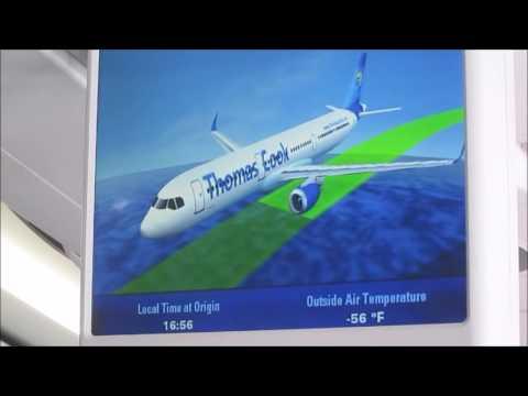 Thomas Cook Bristol to Tenerife Full flight including cockpit visit