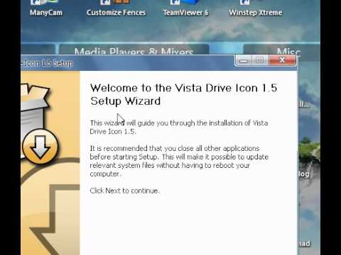 How to change windows xp drive icons to vista icons