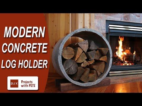 How to Make a Modern Concrete Log Holder | RYOBI Nation