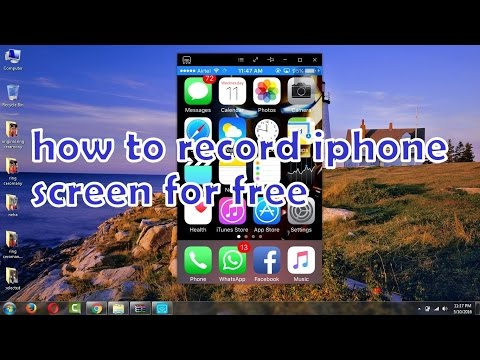 how to record your iphone screen for free windows/mac