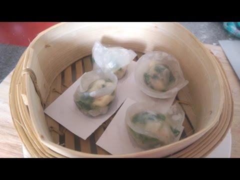How to make Chive dumpling 蒸韭菜铰