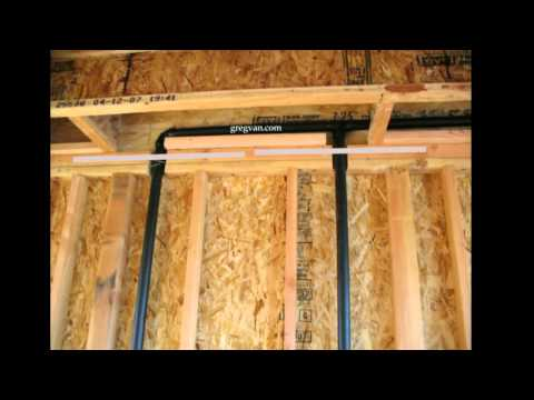 Pipe Notches and Top Plate Straps - Plumbing and Framing Layout