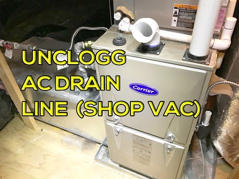 How to Unclog AC Drain Line Using Shop Vacuum