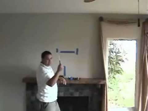 Install TV above fireplace pt 2- install mount