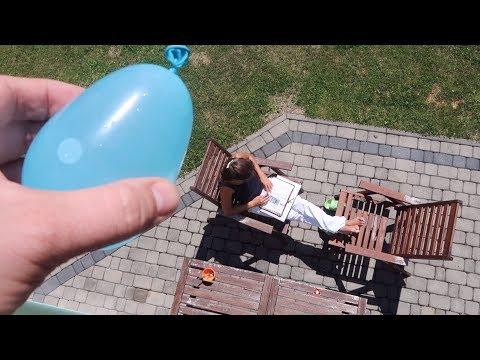 Falling Water Balloon Prank
