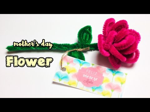 Pipe cleaner flower - Mother's day craft