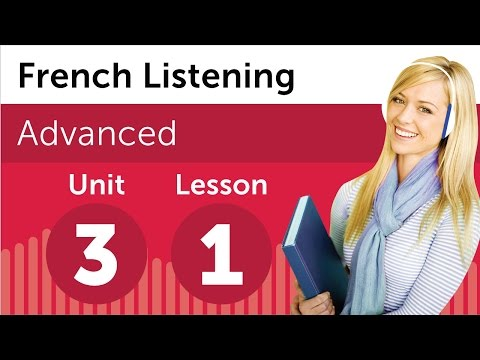 French Listening Practice - Going to the Library in France