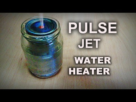 Boiling Water with a Tin Can Pulse Jet!