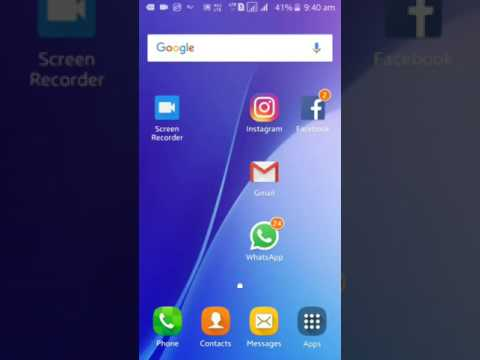 How to change mobile screen colour