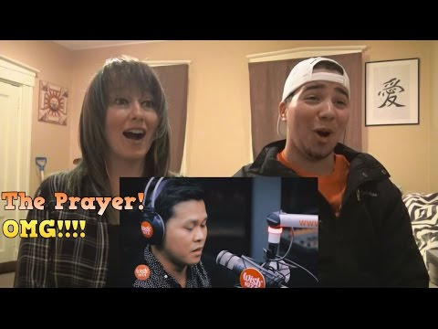 MOM & SON REACTION TO! Marcelito Pomoy sings The Prayer on Wish
