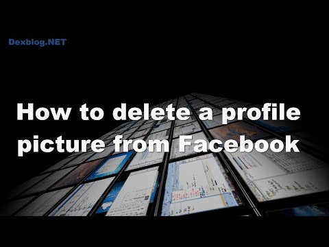 How to delete a profile picture from Facebook