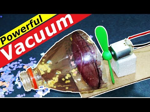 How to Make a Mini Vacuum Cleaner with Bottle at Home