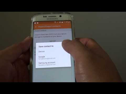 Samsung Galaxy S6 Edge: How to Import Contacts from vCard File (VCF)