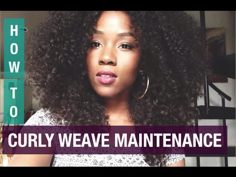 CURLY HAIR SOLUTIONS | HOW TO MAINTAIN CURLY WEAVE