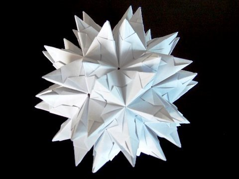 How to make an Origami Spiked Truncated Icosahedron