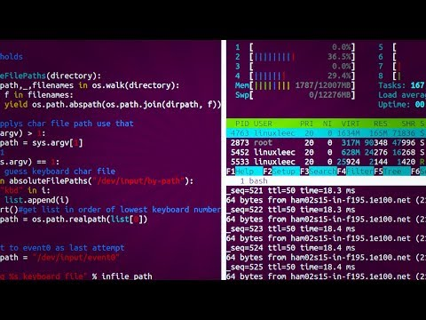 Split screen your terminal using gnu screen