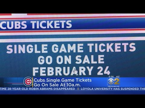 Cubs Tickets Go On Sale By Phone And Online Friday