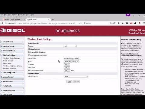HOW TO SETUP DIGISOL WIFI ROUTER