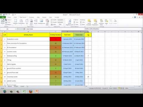 Lesson 3 part 3   create activity list in excel