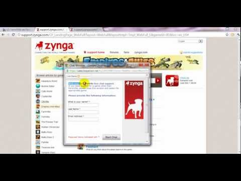How to get Zynga Live Chat