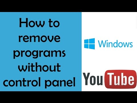 How to remove programs & software without control panel