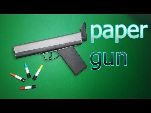 | DIY | How to make a paper ' CROW GUN ' That shoots paper bullets-Toy Weapons- By Dr. Origami