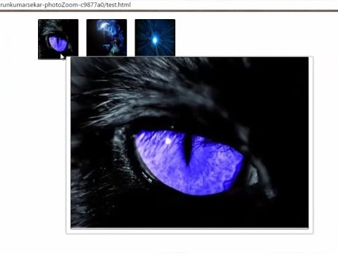 zoom images on mouse hover using JQUERY tutorial for beginners