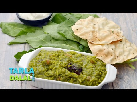 Palak Khichdi Recipe, Indian Main Course, One dish meal by Tarla Dalal