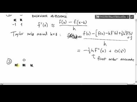MATH426: Finite differences (1 of 2)