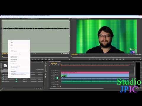Manually Synchronize Audio and Video files in Adobe Premiere Pro CC and CS6 based on Clip Markers