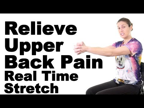 Relieve Upper Back Pain with This Real Time Rhomboid Stretch - Ask Doctor Jo