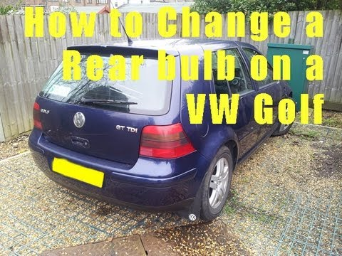 VW Golf Rear Light Bulb Change