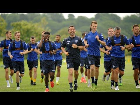 Birmingham City's first full training session back